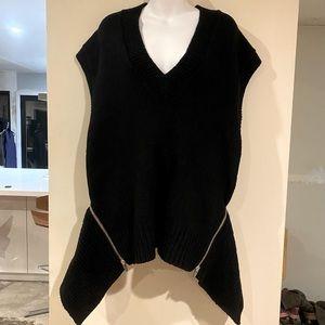 Alexander Wang Zip Back Sleeveless Sweater